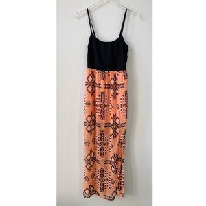 FOREVER 21 Mixed Print Maxi Dress S